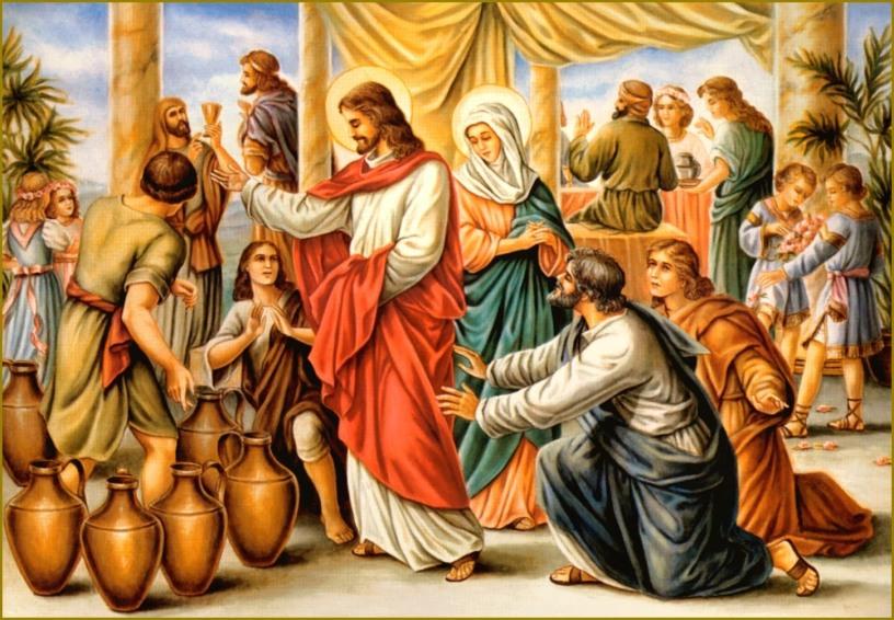 Matrimonio Catolico Dibujo : Las bodas de caná; reflexión meditación mensaje oración y tarea