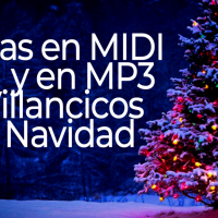 Pistas de villancicos y de navidad en MIDI y MP3